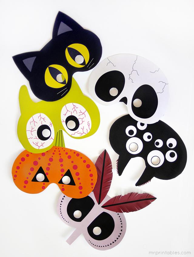 free mask printables halloween