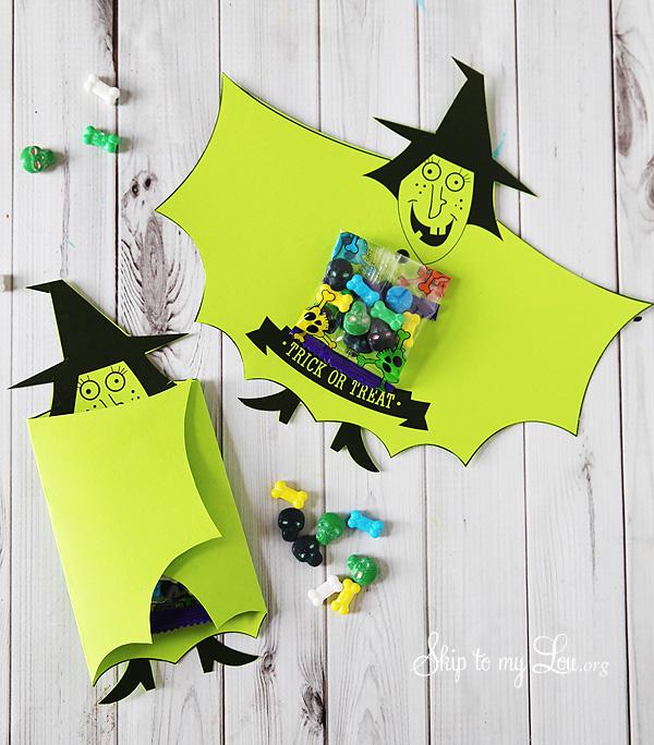 sorcieres a imprimer bonbon halloween