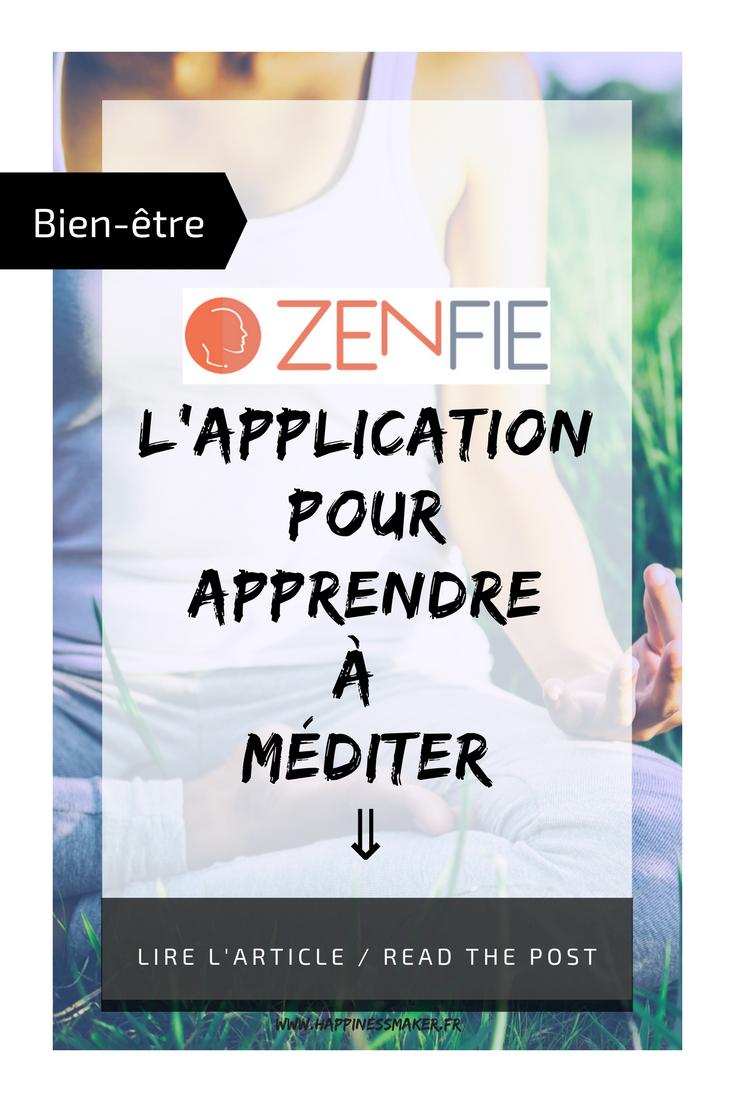 zenfie l'application pour méditer apprendre méditation