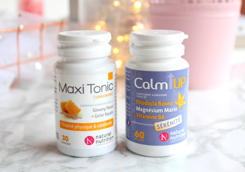 Calm Up et Maxi Tonic de Natural Nutrition
