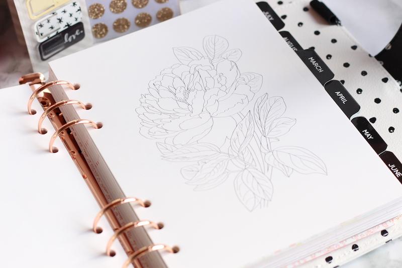 art thérapie agenda planner