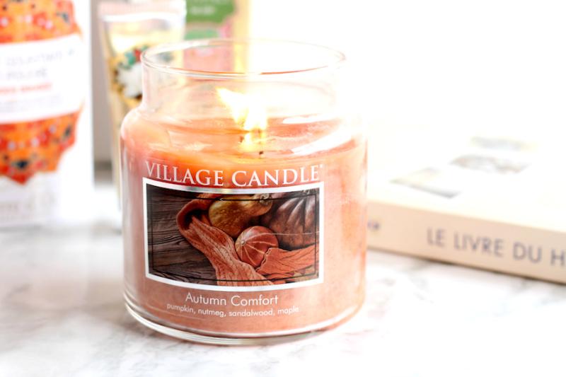 bougies autumn comfort village candle