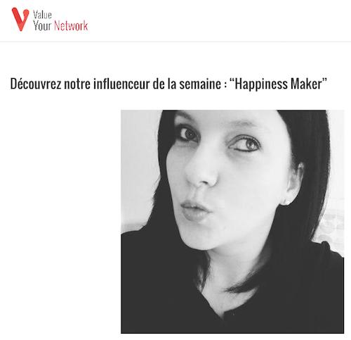 Influenceur de la semaine Value your Network