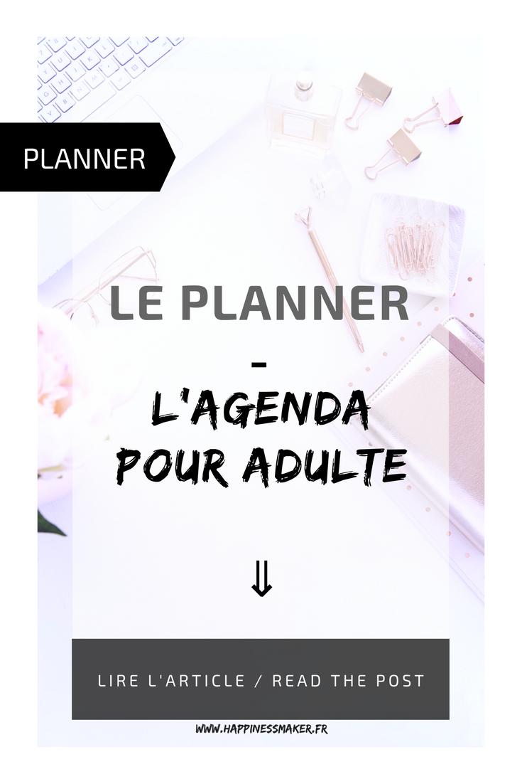 le planner l'agenda pour adulte organisation