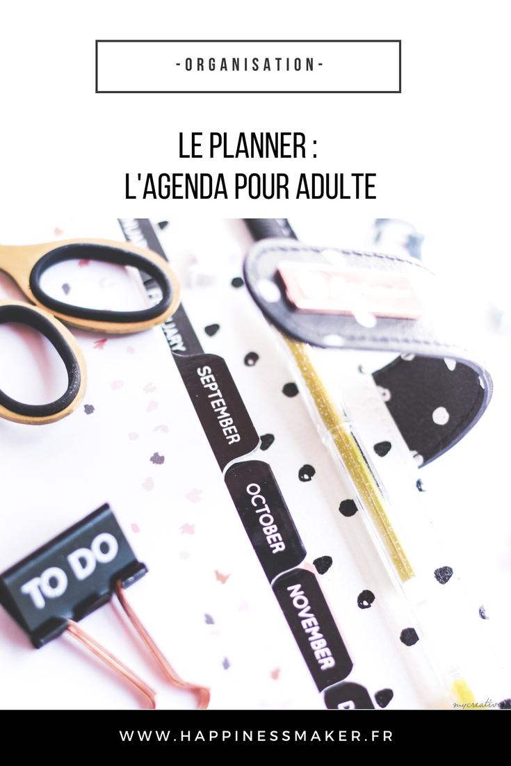 le planner l'agenda pour adulte