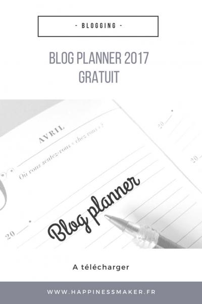 blog planner a télécharger gratuit