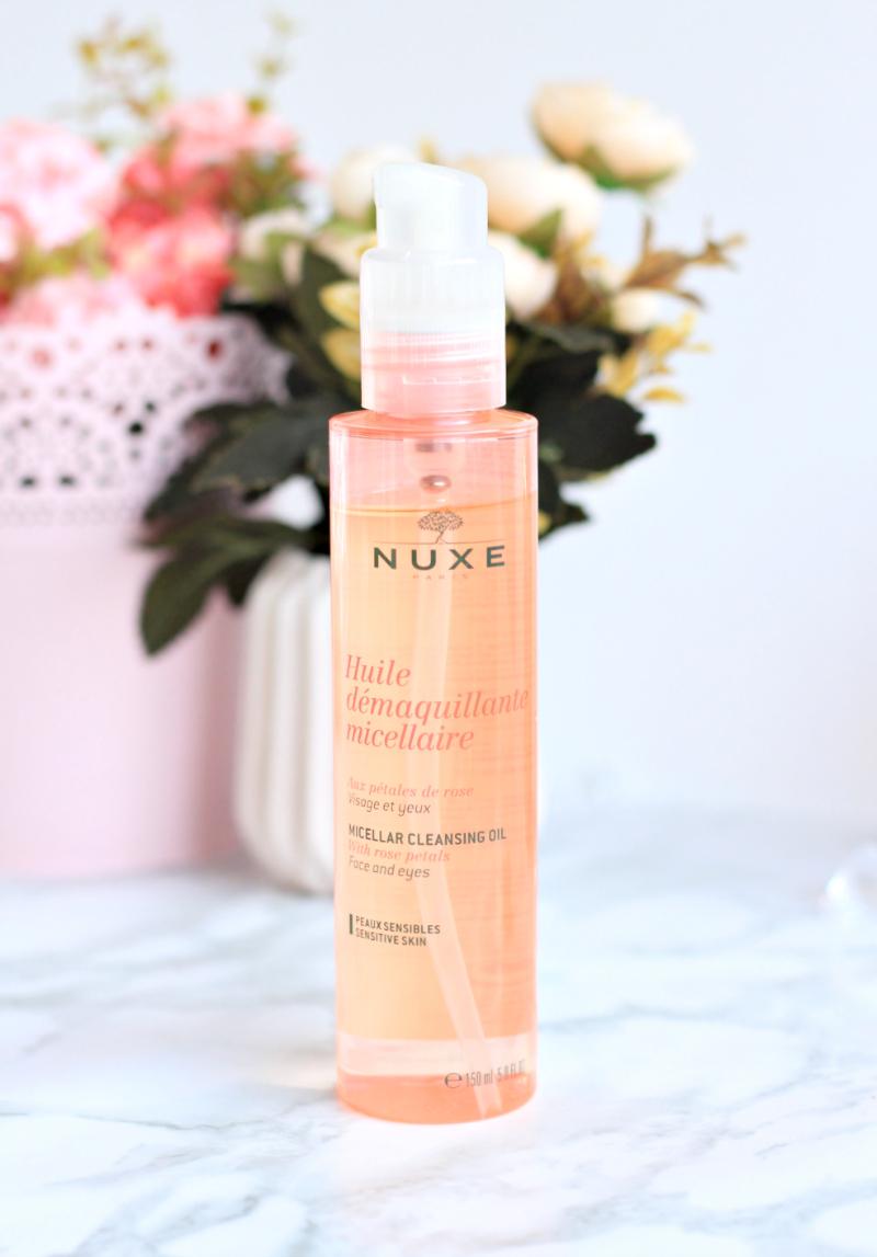 huile demaquillante micellaire rose nuxe