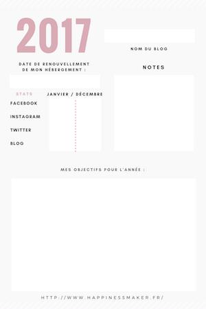 planner objectifs blog