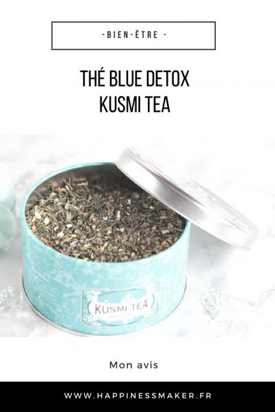 thé blue détox de kusmi tea après fêtes repas chargé