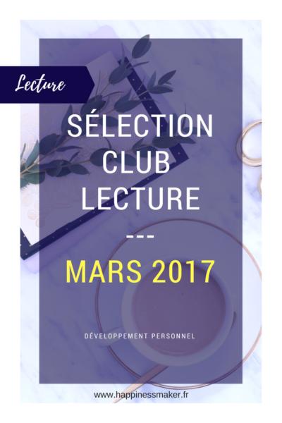 Club lecture Sélection de mars