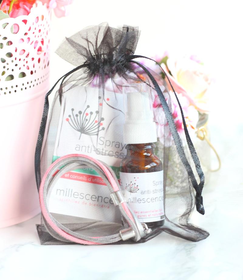 Bracelet anti-stress huiles essentielles bio