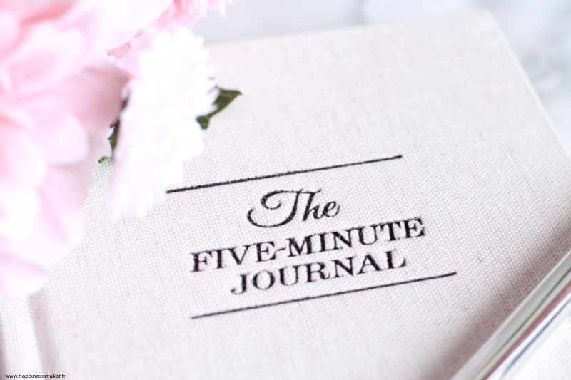 The Five Minute Journal gratitude carnet
