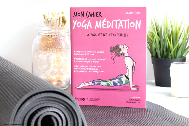 Livre mon cahier yoga méditation avis