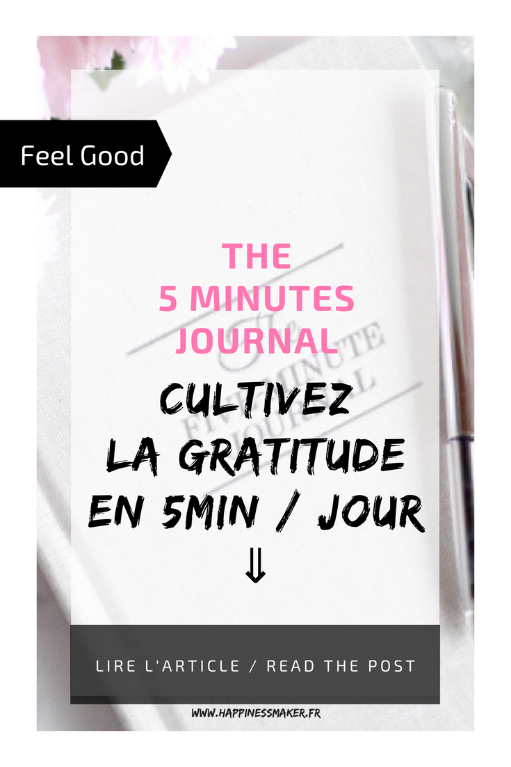 The 5 minutes journal développement personnel