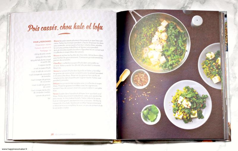 Recette végétarien tofu kale