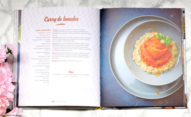 Recettes currys végétariens légumes