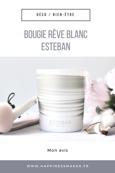 bougie rêve blanc musc esteban parfums paris avis