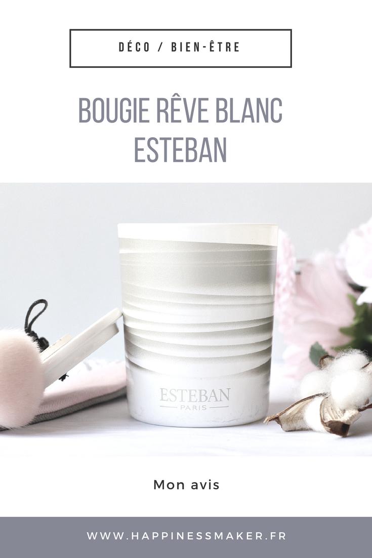 La bougie Rêve Blanc d'Estéban : Le coup de foudre !