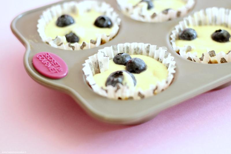 Recette de muffins myrtilles