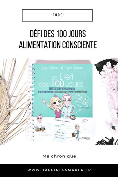défi des 100 jours alimentation consciente Lilou Macé