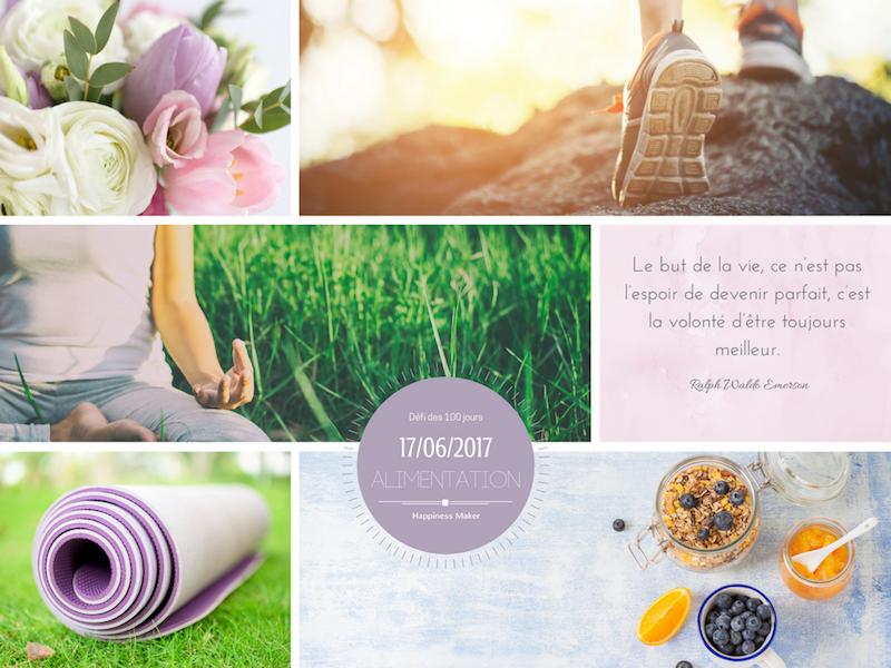 Défi des 100 jours alimentation