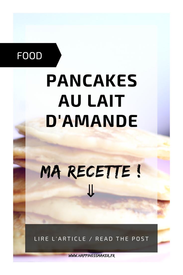 recette de pancakes au lait d'amande