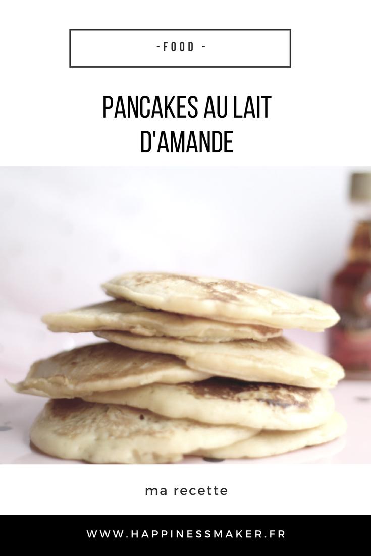 recette pancakes au lait d'amande facile et gourmande