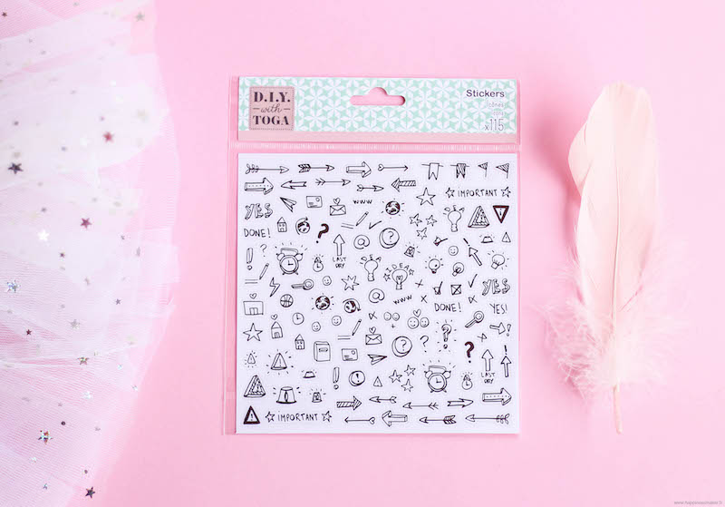 Stickers pour Bullet Journal Toga