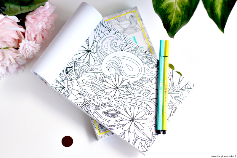 Coloriages anti-stress détachables