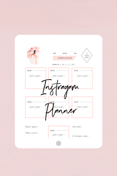 Instagram Planner à télécharger + Instagram feed Canva Template