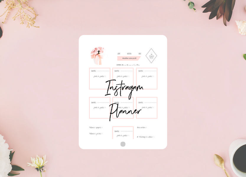 Instagram Planner feed Canva template Freebies