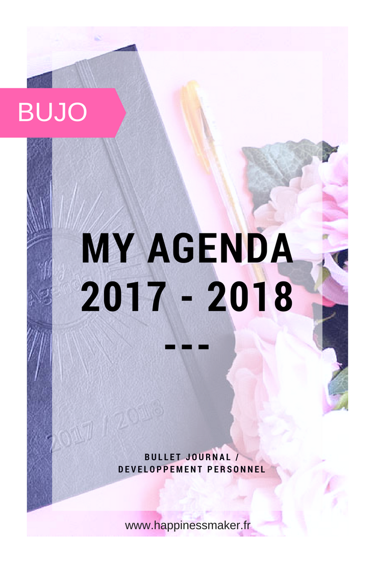 My agenda 2017 2018 Bullet journal débutants