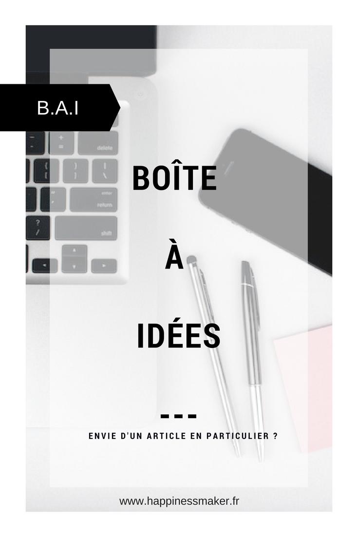 Boîte à idées article blog