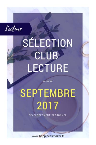 Club Lecture : Sélection de septembre