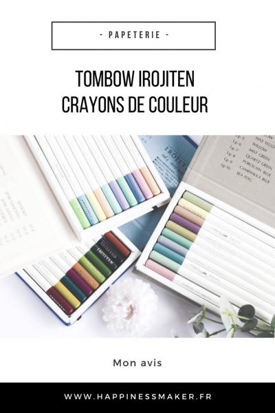 crayons de couleur tombow irojiten pastel