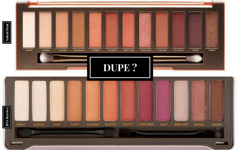 Dupe de la Naked Heat BYS BERRIES