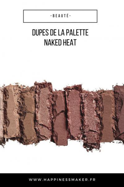 dupes de la palette naked heat urban decay