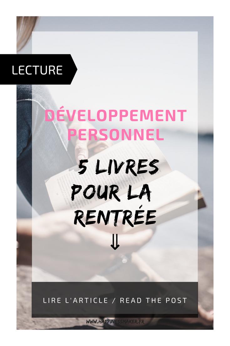 livres de développement personnel rentrée
