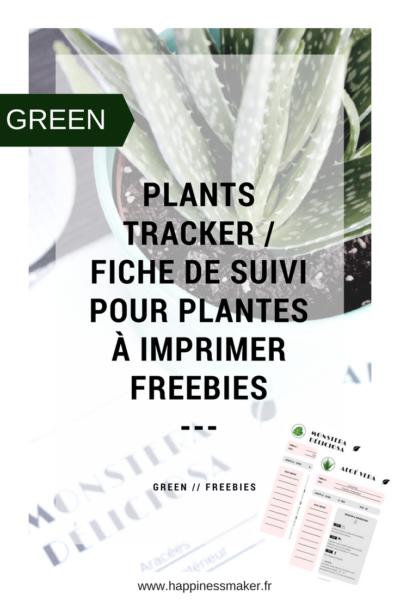 plants tracker fiche conseil et suivi plantes vertes