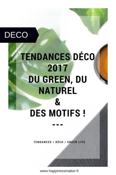 tendances deco 2017 green naturel ethnique motifs