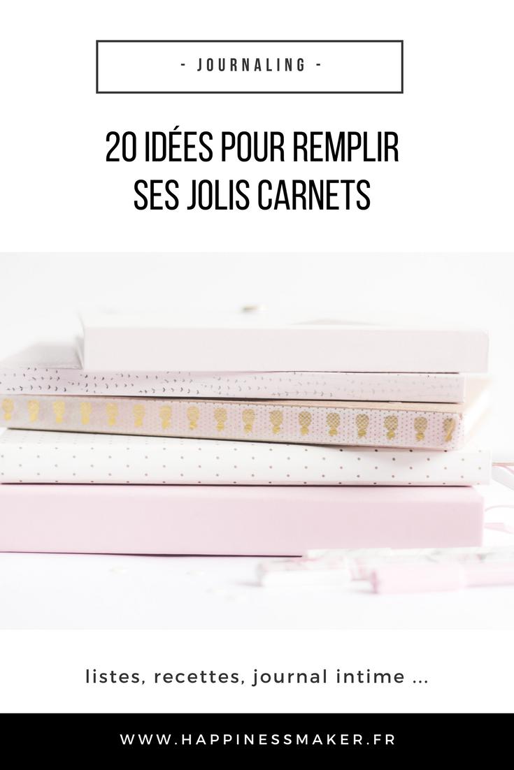 20 idées pour remplir son carnet listes recettes