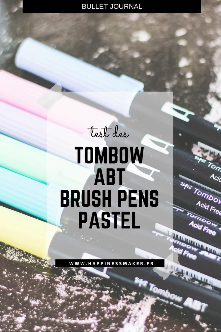 brush pen de tombow kit pastel bullet journal