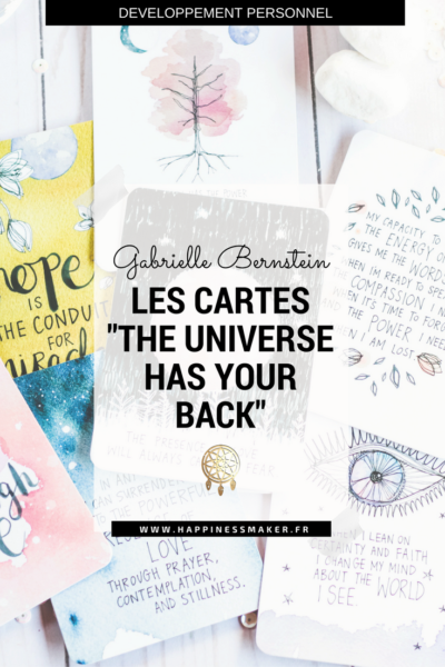 The universe has your back : Les cartes d'inspiration