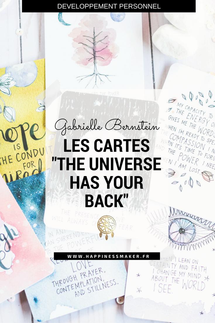 The universe has your back : Les cartes d'inspiration