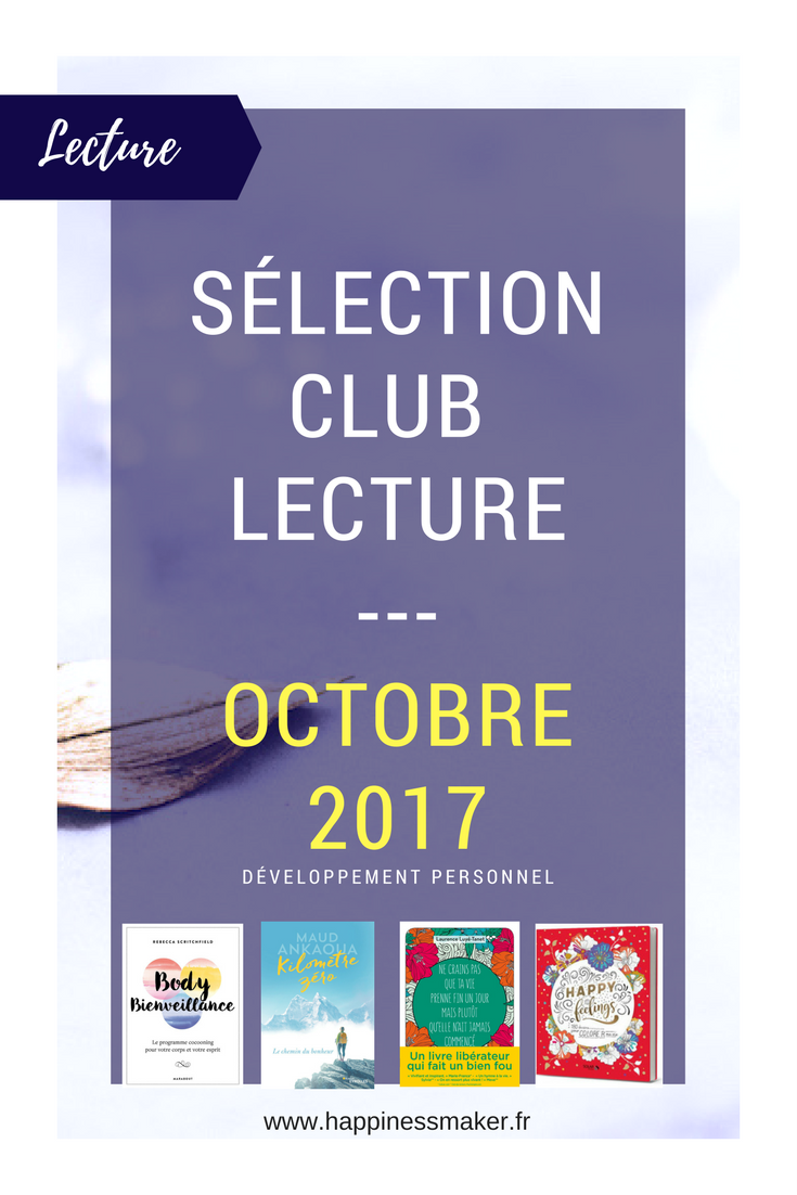 Club Lecture // Octobre : La sélection livres de développement personnel