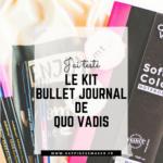 kit bullet journal quo vadis debutant