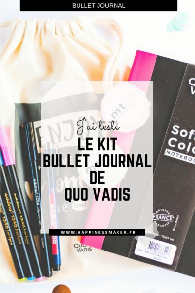 Kit Bullet Journal : Quo Vadis lance une édition limitée !