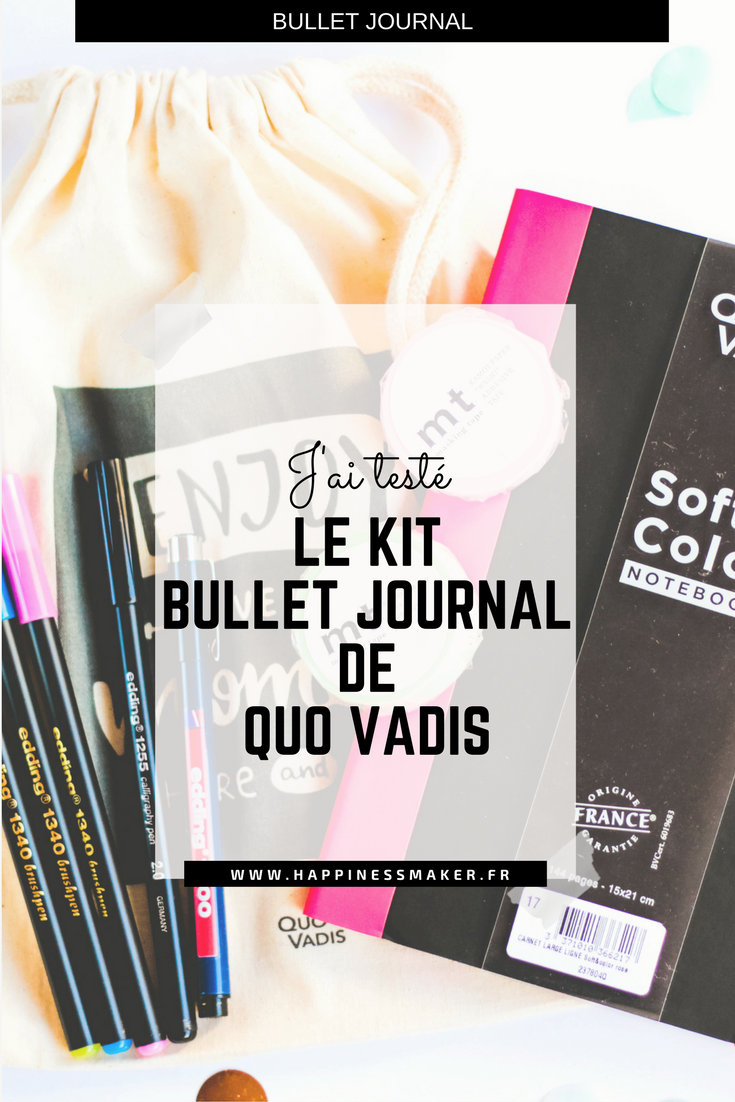 kit bullet journal quo vadis debutant