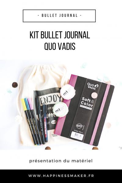 kit bullet journal quo vadis materiel pour débuter