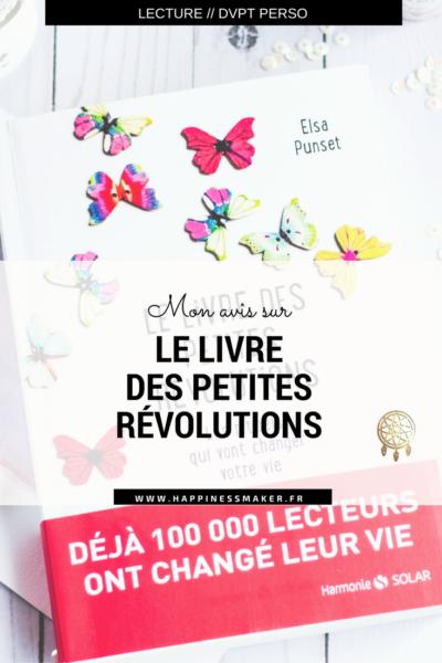 Le livre des petites révolutions : Entre conseils et exercices